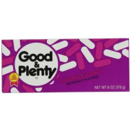 GOOD & PLENTY Candy, Classic Black Licorice Flavor, 6 Ounce Box (Pack of 12)
