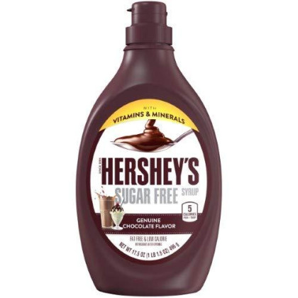 Hershey's Sugar Free Syrup, 17.5-Ounce Bottle (Pack of 12)