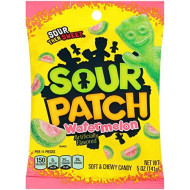 Sour Patch Kids Sweet and Sour Gummy Candy (Watermelon, 5-Ounce, Pack of 12)