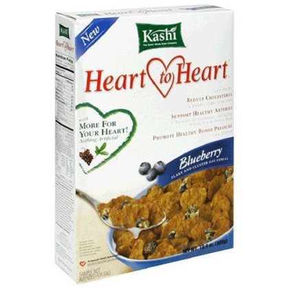 Kashi-Heart to Heart Oat Flake and Blueberry Cluster Cereal, 13.4oz Box