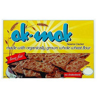 Ak-Mak Sesame Crackers, 4.15-Ounce Boxes(pack of 3)