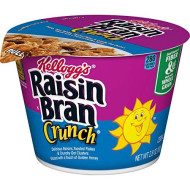 Kellogg'S Raisin Bran Crunch, Breakfast Cereal In A Cup, Original, Good Source Of Fiber, Bulk Size, 2.9 Oz(Pack Of 12)