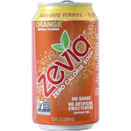 Zevia All Natural Soda, Orange, 12-Ounce Cans (Pack Of 24)