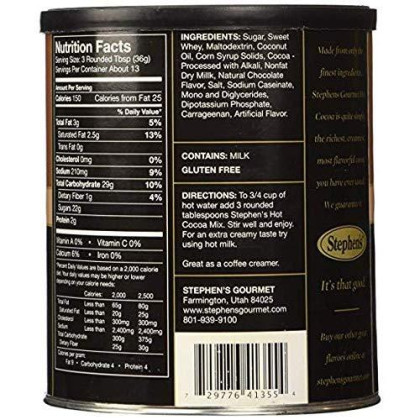 Stephen's Gourmet Hot Cocoa, Milk Chocolate, 16-ounce Canister