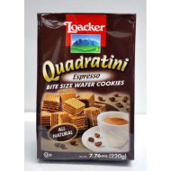 Loacker Quadratini Espresso Bite Sized Wafer Cookies, 7.76 Ounce (Pack Of 8)