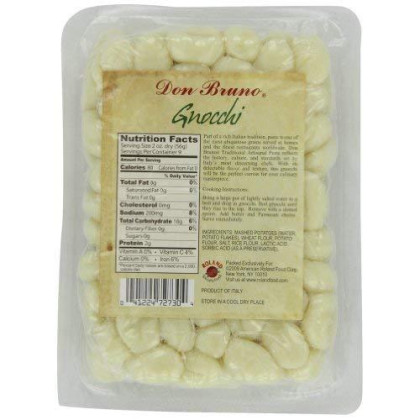 Don Bruno Pasta, Gnocchi, 17.6 Ounce (Pack of 6)