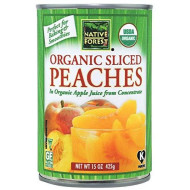 Native Forest Organic Sliced Peaches, 15 Ounce Cans (Pack Of 6)