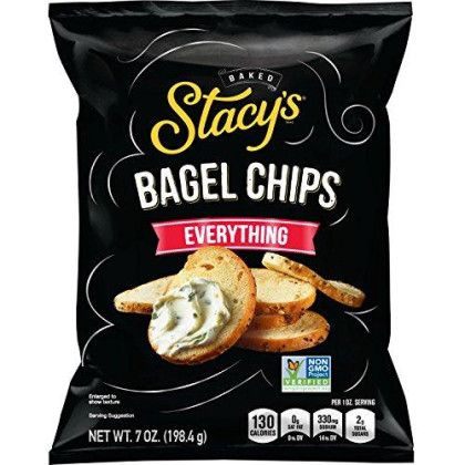 Stacy's Everything (Onion, Sesame, Poppy & Garlic) Flavored Bagel Chips, 7 Ounce Bags (Pack of 12)