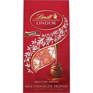 Lindt Lindor Truffles Milk Chocolate (12-Count), 5.1-Ounce Bags (Pack Of 6)