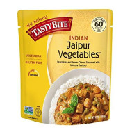 Tasty Bite Indian Entree Jaipur Vegetables 10 Ounce (Pack Of 6), Fully Cooked Indian Entree With Vegetables And Paneer Cheese Simmered With Spices And Cashews, Vegetarian, Gluten Free, Ready To Eat