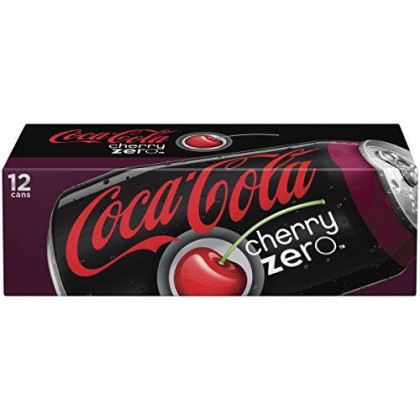 Coca-Cola Cherry Coke Zero, 12 Ounce (12 Cans)
