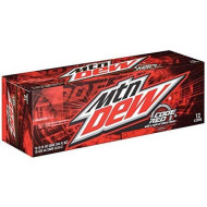 Mountain Dew Code Red Soda, 12 oz Can (Pack of 24)