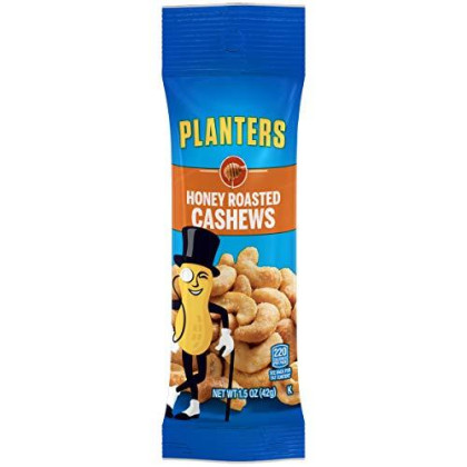 Planters Honey Roasted & Salted Cashews (1.5 oz Bag, Pack of 18)