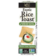 Edward & Sons Exotic Rice Toast, Jasmine Rice & Spring Onion, 2.25-Ounce Boxes (Pack Of 12)