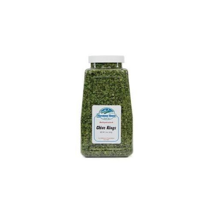 Harmony House Foods, Dried Chives, Chopped, 2 Ounce Quart Size Jar