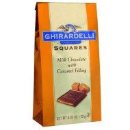 Ghirardelli Chocolate Squares, Milk Chocolate With Caramel Filling, 5.32-Ounce Packages (Pack Of 6)