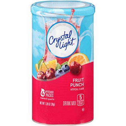 Crystal Light Fruit Punch Drink Mix (16 Pitcher Packets, 4 Canisters of 4)