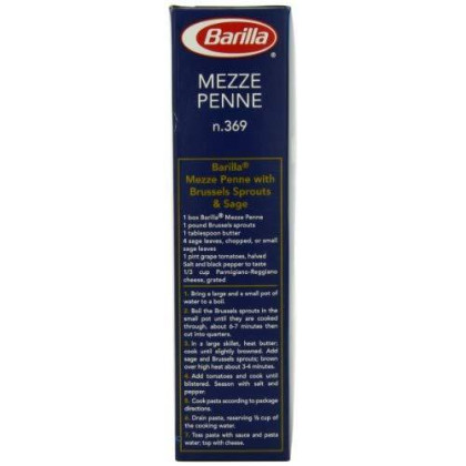 Barilla Pasta, Mezze Penne, 16 Ounce (Pack of 4)