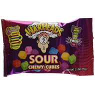 Warheads Pack Of 15, Sour Chewy Cubes Bags, 2.5 Oz.