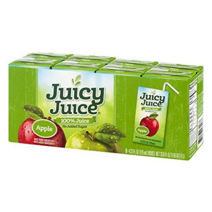 Juicy Juice 100% Apple Juice, 4.23-Ounce Packages 8 Boxes, (Pack Of 5)