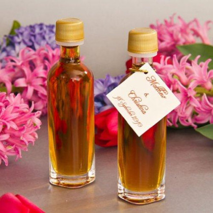 Mansfield Maple Pure Vermont Maple Syrup Wedding Favors Set of 24 50ml Bellolio Glass Bottles