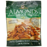 Madi K'S Whole Natural Almonds, 11-Ounce Pouches (Pack Of 4)