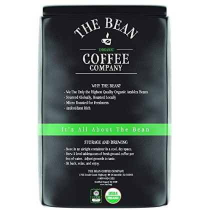 The Bean Coffee Company Organic Le Bean, Dark French Roast, Ground, 5-Pound Bag