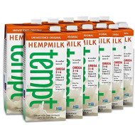 Living Harvest Tempt Hemp Milk, Unsweetened Original, 32-Ounce Containers (Pack of 12)