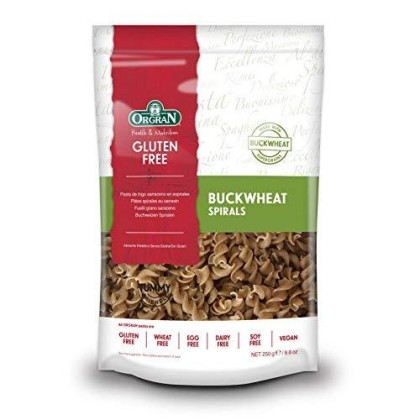 OrgraN Buckwheat Pasta, Spirals, 8.8-Ounce Packages (Pack of 7)