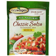 Mrs. Wages Classic Salsa Mix, Medium, 0 .8-Ounce Pouches (Pack of 12)