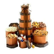 Gift Tower Of Sweets. Perfect For All Occasions Including Birthday, Sympathy, Housewarming, Retirement, Get Well, Thank You Gifts