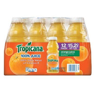 Tropicana Orange Juice, 15.2 Fl Oz Bottles, Pack of 12