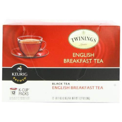 Twinings of London English Breakfast Tea K-Cups for Keurig, 12 Count (Pack of 3)
