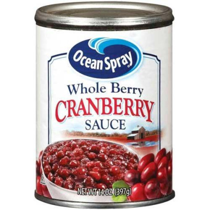 Ocean Spray Whole Berry Cranberry Sauce, 14 Ounce, Pack of 24