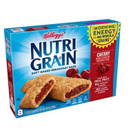 Kellogg's Nutri-Grain, Soft Baked Breakfast Bars, Cherry, Made with Whole Grain, 10.4 oz (8 Count)