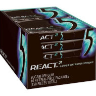Wrigley'S Gum 5 - React Mint, 1.76-Ounce Packages (Pack Of 10)