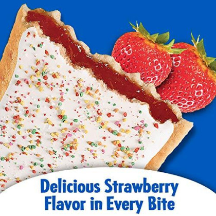 Pop-Tarts Breakfast Toaster Pastries, Frosted Strawberry Flavored, 66 Oz (36 Count)