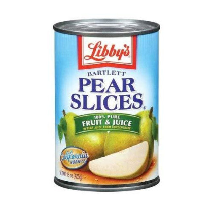 Libby's Pears Sliced In Pear juices Concentrate, 15-Ounces Cans (Pack of 12)
