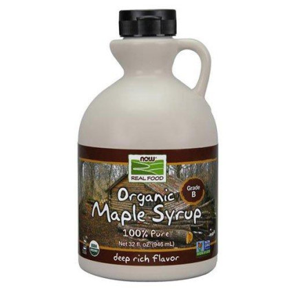 Now Foods Maple Syrup Organic Grade B 32 Oz