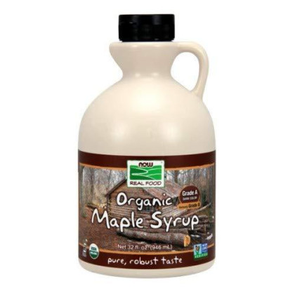 Now Foods Maple Syrup Organic Grade B, Grade B 32 oz (Pack of 4)