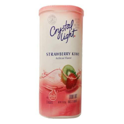 Crystal Light Strawberry Kiwi Drink Mix (12-Quart), 2.3-Ounce Canisters (Pack of 6)