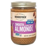 Woodstock Almond Butter - Lightly Toasted - Unsalted - Case Of 12 - 16 Oz.