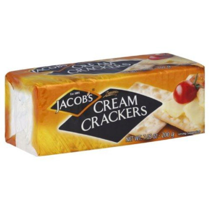 Jacobs Crackers, Cream, 7.05-Ounce (Pack of 12)