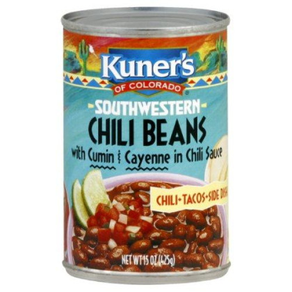 Kuner's Chili Beans, 15-ounces (Pack of12)