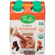 Pacific Beverages Naturally Almond Chocolate 4 Pack, Gluten Free, 8-Ounces (Pack Of6)