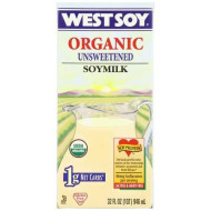 Westsoy Soy Milk Unsweetened Organic, Gluten Free, 32-Ounces (Pack Of 6)