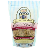 Bakery On Main Fiber Power Gluten Free Non-GMO Granola, Triple Berry, 12-Ounce (Pack of 3)