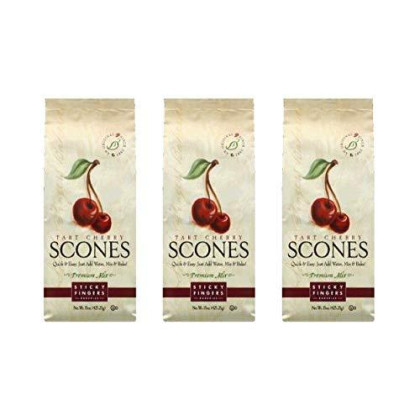 Sticky Fingers Bakeries Tart Cherry Scone Mix, 15-Ounce (Pack Of 3)