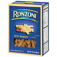 Ronzoni Ziti Rigati, 16-Ounce (Pack of 6)