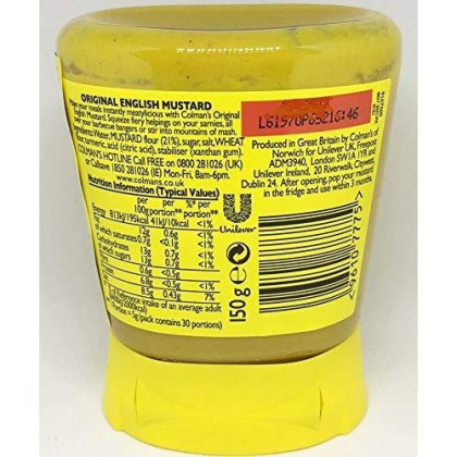Colman's Original English Squeezy Mustard Imported From The UK England The Best Of British Mustard